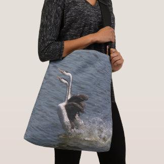 Running Grebe Birds Wildlife Animals Tote Bag