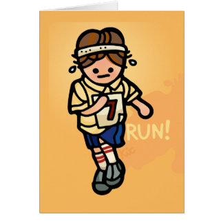 running greeting living. card