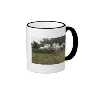 Running Grey Horse Herd Ringer Mug