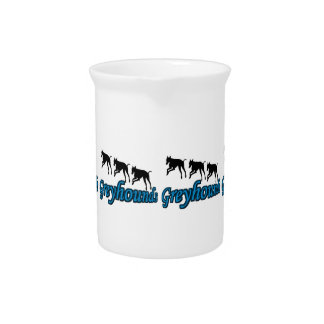 Running Greyhound Silhouettes Beverage Pitcher