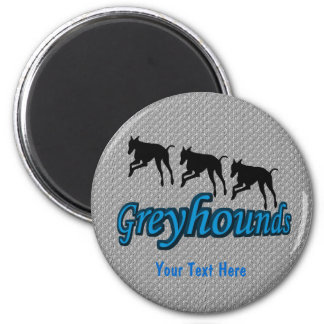 Running Greyhound Silhouettes Dog Magnet