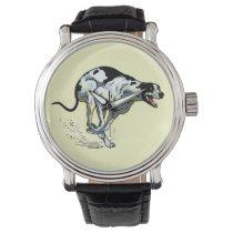 running greyhound wristwatch