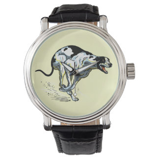 running greyhound wristwatch