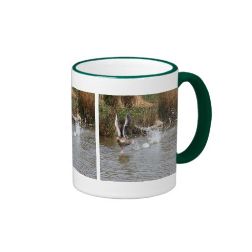 Running Greylag Goose Coffee Mugs