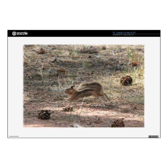 """Running Ground Squirrel Decals For 15"""" Laptops"""