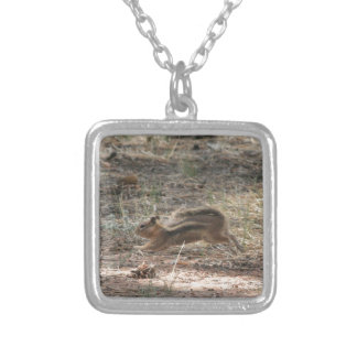 Running Ground Squirrel Silver Plated Necklace