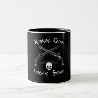 Running Guns & Crossing Swords Two-Tone Coffee Mug