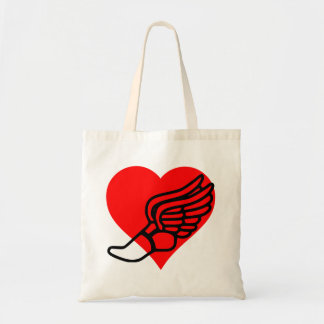Running Heart Tote Bag