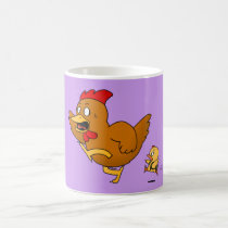 Running Hen (Back To School) Magic Mug