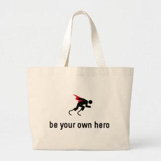 Running Hero Large Tote Bag