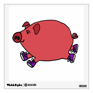 Running Hog Wild Art Wall Decal
