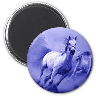 Running Horse 2 Inch Round Magnet