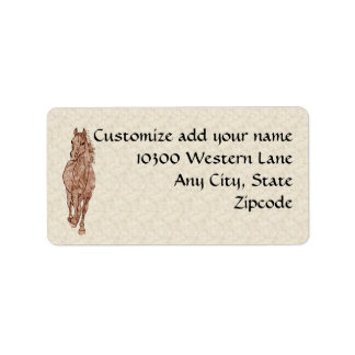 Running Horse Address Label