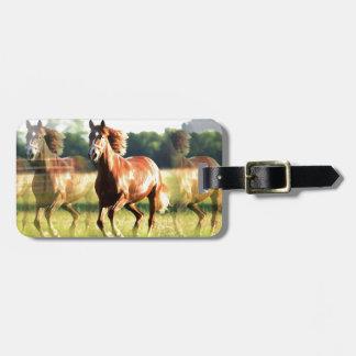 Running Horse Bag Tag