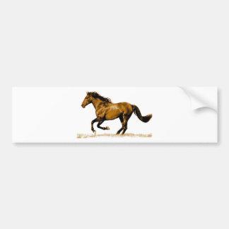 Running Horse Car Bumper Sticker