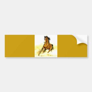 Running Horse Bumper Sticker