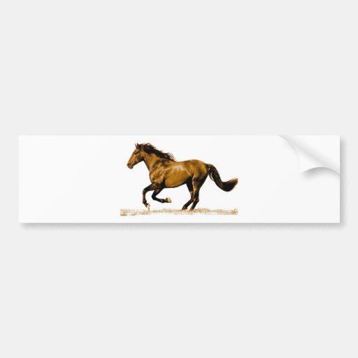 Running Horse Bumper Stickers