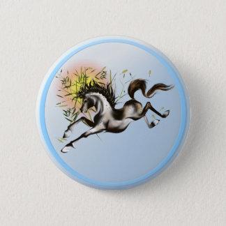 Running Horse Button
