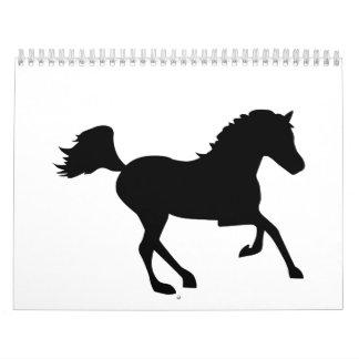 Running horse calendar