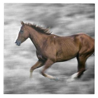 Running horse ceramic tile