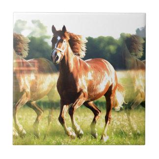 Running Horse Ceramic Tiles