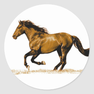 Running Horse Classic Round Sticker