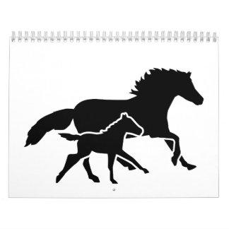 Running horse family calendar