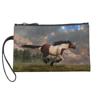 Running Horse Handbag Wristlet Clutch