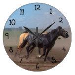 Running Horse Herd Clocks