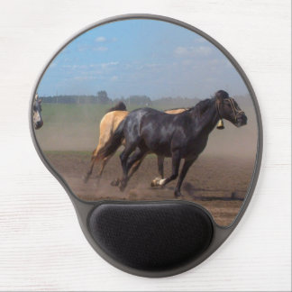 Running Horse Herd Gel Mouse Pad