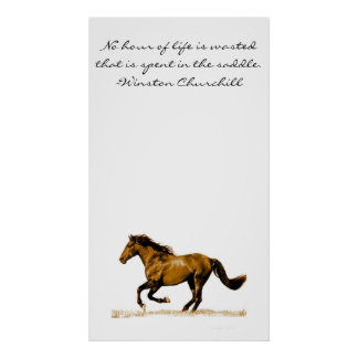 Running Horse Inspirational Quote Poster