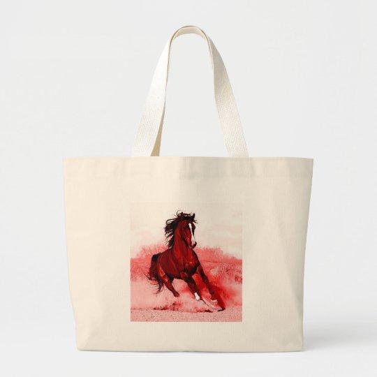 Running Horse Large Tote Bag
