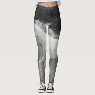 Horse leggings with a running horse