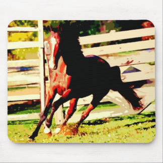 Running Horse Mouse Pad
