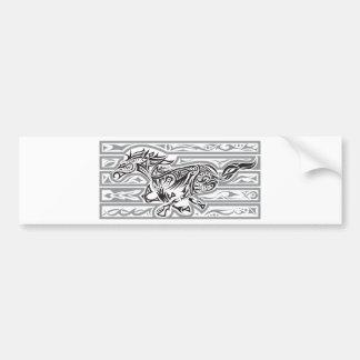 Running Horse (Mustang) Bumper Sticker