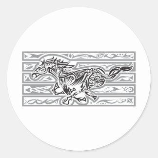 Running Horse (Mustang) Classic Round Sticker