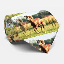 Running Horse Neck Tie