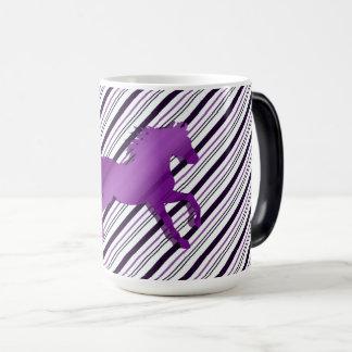 Running Horse on Stripes Magic Mug