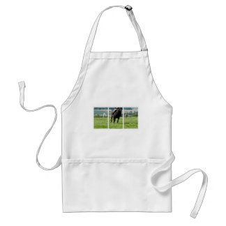 RUNNING HORSE & PONIES ADULT APRON