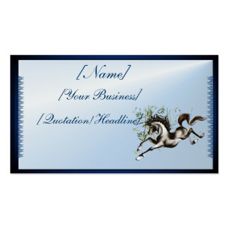 Running Horse profilecard_business_horizontal, ... Double-Sided Standard Business Cards (Pack Of 100)