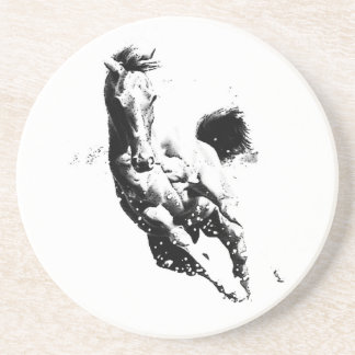 Running Horse Sandstone Coaster