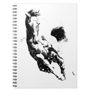 Running Horse Spiral Notebook