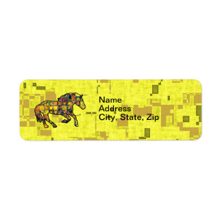 RUNNING HORSE SQUARED Address Label