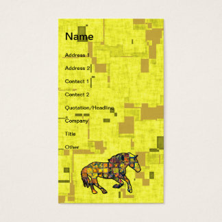 RUNNING HORSE SQUARED Business Cards