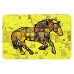 RUNNING HORSE SQUARED Flexible Magnet Rectangle Magnets