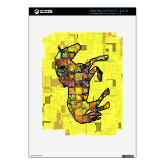RUNNING HORSE SQUARED iPad 3 DECAL