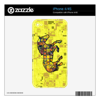 RUNNING HORSE SQUARED SKINS FOR iPhone 4S