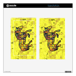 RUNNING HORSE SQUARED SKINS FOR KINDLE FIRE