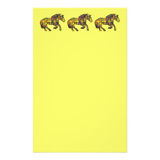 RUNNING HORSE SQUARED Stationery