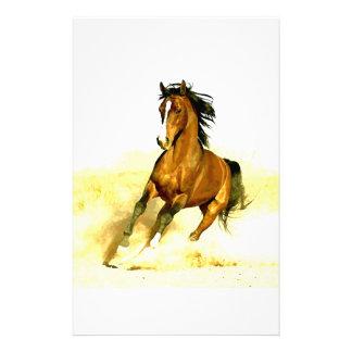 Running Horse Customized Stationery